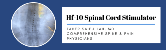 Dr. Taher Saifullah of CSPP Performed Successful HF10 Spinal Cord Stimulation Trial